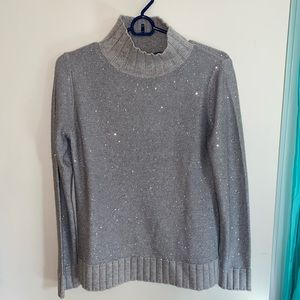 Sparkly Gray Cashmere Sweater